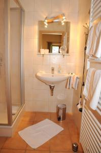 A bathroom at Ferienwohnungen an der Sägemühle