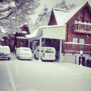 Balls Deep Inn Villas during the winter
