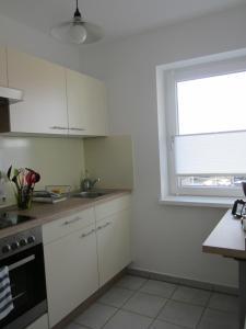 A kitchen or kitchenette at Ferienwohnungen Novak