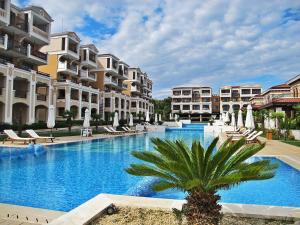 The swimming pool at or near Elena`s Apartments in Kavatsi Area