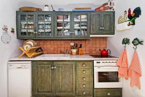Köök või kööginurk majutusasutuses 3Arches