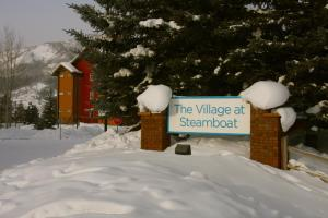The Village at Steamboat during the winter