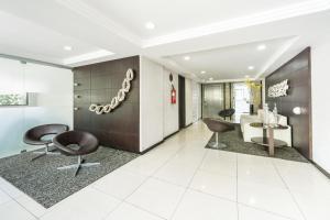 The lobby or reception area at Studio Home Service em Boa Viagem