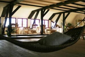 Ein Sitzbereich in der Unterkunft Quellenhof