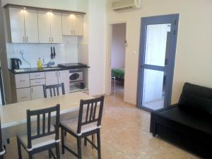 Virtuve vai virtuves aprīkojums naktsmītnē Laguna Apartments