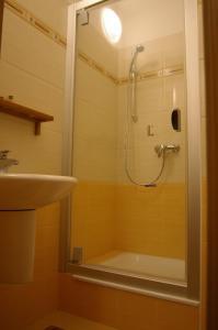 A bathroom at Apartmán 302 Oščadnica