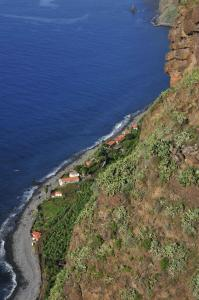 A bird's-eye view of Faja dos Padres