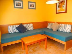 A seating area at Alta Galdana Playa