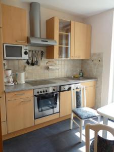 Küche/Küchenzeile in der Unterkunft Weingut Am Löwenkopf