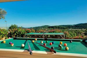 A pool table at Villa Can Lluc