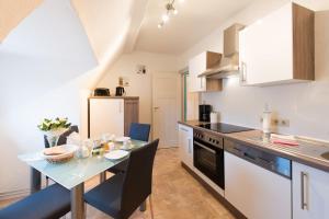 Küche/Küchenzeile in der Unterkunft Harztour Ferienwohnung II