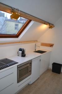 Een keuken of kitchenette bij Zeezout
