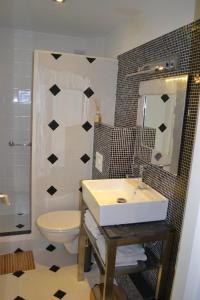 Een badkamer bij Zeezout