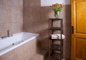 A bathroom at Penzion Jízdárna Hejtmánkovice