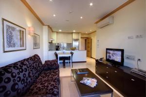 Istumisnurk majutusasutuses Apartamentos Mediterráneo Real