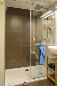 Een badkamer bij Ferienwohnung Radebeul Gerlach