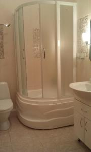 A bathroom at Apartment on Prospekt Shevchenka