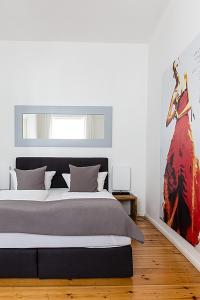 Cama o camas de una habitación en Berlinappart - Mitte Apartments