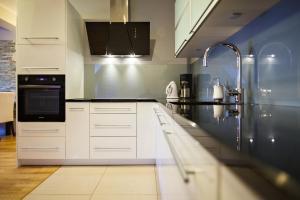 A kitchen or kitchenette at Zakopane Apartamenty LUX
