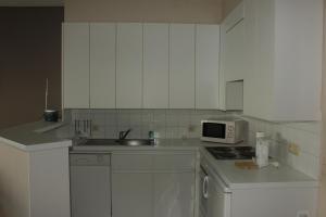 Cuisine ou kitchenette dans l'établissement Appartement aan Zeedijk Nieuwpoort