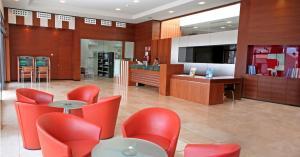 De lobby of receptie bij Caybeach Caleta