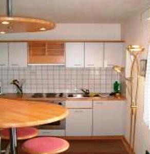 Küche/Küchenzeile in der Unterkunft Pension Angergut