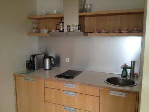 A kitchen or kitchenette at Kuressaare Tallinn Street Apartments