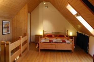 Ein Bett oder Betten in einem Zimmer der Unterkunft Hadassa Apartment Simcha