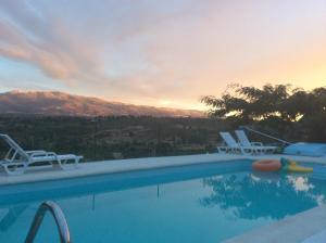 The swimming pool at or near Quinta da Estrela
