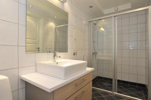 Een badkamer bij Geilo Gaarden