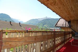 Ein Balkon oder eine Terrasse in der Unterkunft Appartements Christine