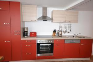 Küche/Küchenzeile in der Unterkunft Bachperle