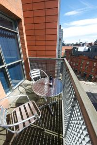 A balcony or terrace at Stay Deansgate Apartments