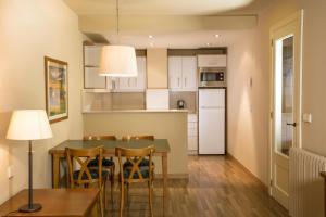 A kitchen or kitchenette at Aparthotel Shusski