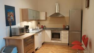 Cuisine ou kitchenette dans l'établissement Apartment Balbínova