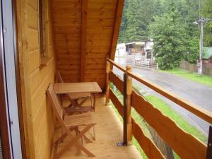 Balkón alebo terasa v ubytovaní Privat Mikyska