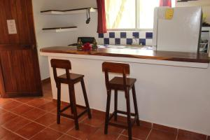 A kitchen or kitchenette at Residence Mexico y Nubes