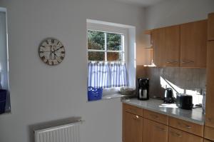 Küche/Küchenzeile in der Unterkunft Ferienhaus Achterwasseridyll - FeWo 02