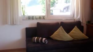 Ein Sitzbereich in der Unterkunft Appartement Haus Petra