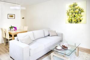 Svetainės erdvė apgyvendinimo įstaigoje Sveikatos ir grožio namų apartamentai