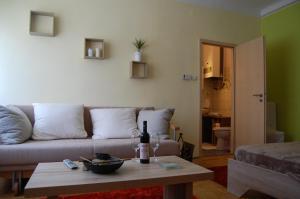 Χώρος καθιστικού στο Délibáb Apartment