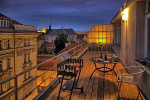 A balcony or terrace at Apartments Vorsilska