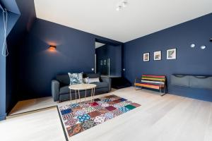 Ein Sitzbereich in der Unterkunft Smartflats Design - Cathédrale