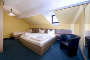 Ein Bett oder Betten in einem Zimmer der Unterkunft Appartementhaus-Edelweiss