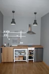 Virtuvė arba virtuvėlė apgyvendinimo įstaigoje Marius ir jūra