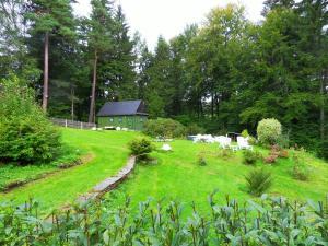 Ein Garten an der Unterkunft Ferienwohnungen im Landhaus Wiesenbad