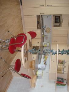 Küche/Küchenzeile in der Unterkunft Ferienwohnung Bergblick