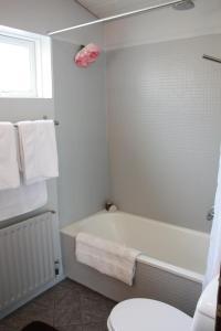 A bathroom at Vesturgata Apartment