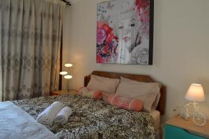 Cama o camas de una habitación en Departamento en Santiago Centro