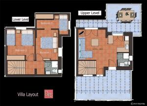 The floor plan of Elios Villas